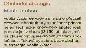 Obchodní a rozvojová strategie Veolia Water v CR vak Zlín