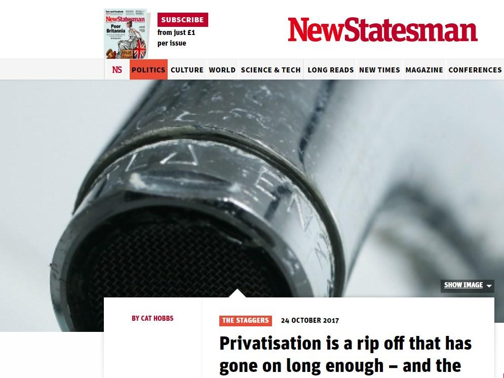 """""""Privatizaci"""" nelze odůvodnit; je to odírání, které trvá dlouho a veřejnost to ví."""
