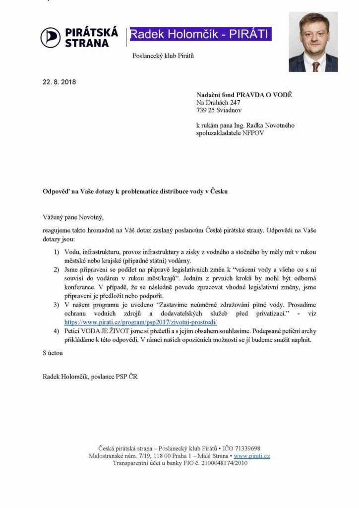 Holomčik - odpověď + klub