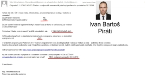 Ivan Bartoš - odpověď