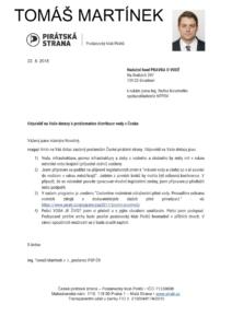 Tomáš Martínek odpověď - Piráti
