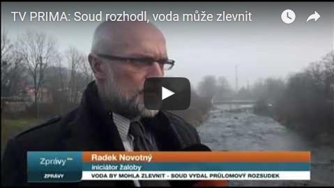 Zlín a voda: 26.11.16 TV PRIMA vysílá zprávy a v nich informuje o rozhodnutí soudu