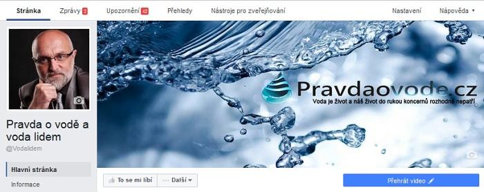 Máte DOST drahé vody? Pomozte šířit informace o vodě, přes web PRAVDAOVODE.CZ a facebook VODA LIDEM