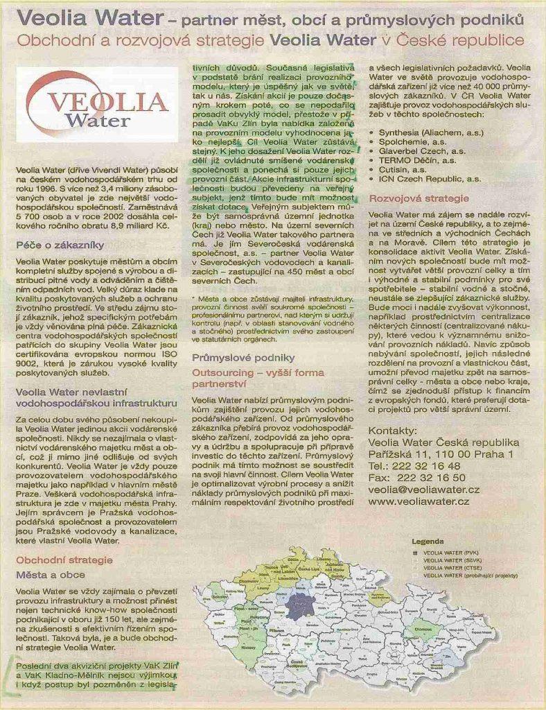 Obchodní a rozvojová strategie Veolia Water v CR s vyzn