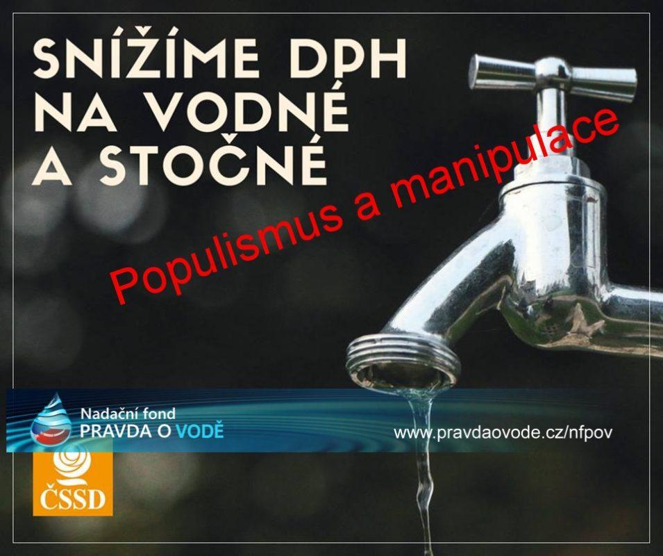 Snížení DPH u vody sníží příjem státu, ne cenu vody lidem aneb volební populismus ČSSD