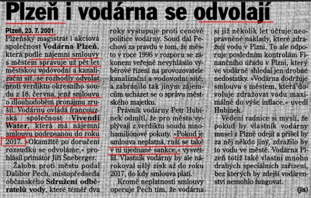 Plzeň i vodárna se odvolají