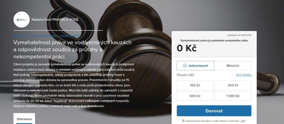 Podpora projektu – Odpovědnost soudců a dárek k narozeninám pro R. Novotného