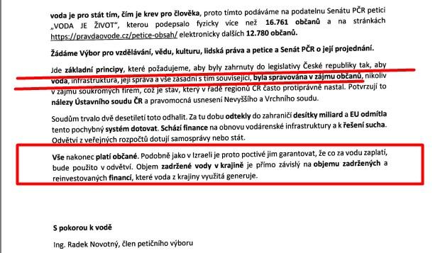 Dnes byla do Senátu ČR předána petice VODA JE ŽIVOT, podepsaná téměř 30.000 občany