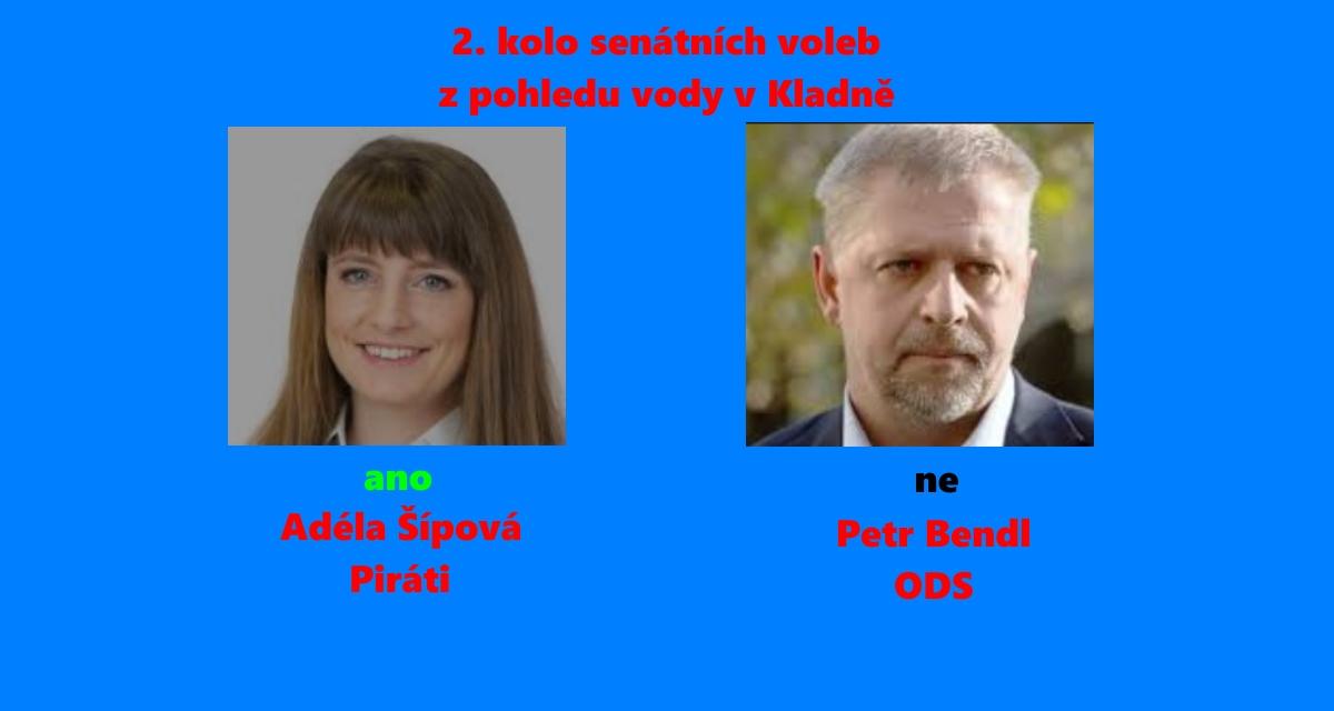 Kladno: Koho ano a koho ne do senátu a proč? Adéla Šípová (Piráti) : Petr Bendl (ODS)