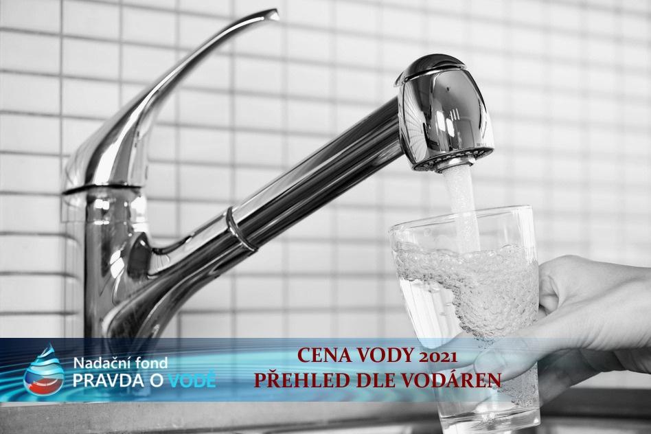 KUBÍK VODY CENA 2021: Cena vody dle jednotlivých vodáren