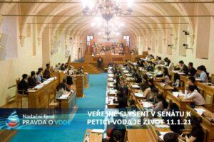 Pozvání zástupců médií na VEŘEJNÉ SLYŠENÍ v senátu k petici VODA JE ŽIVOT