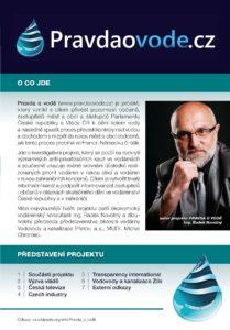 Informační brožura - obsah a smysl projektu PRAVDA O VODĚ