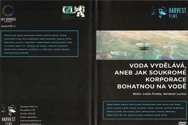 Obal DVD dokumentu VODA VYDĚLÁVÁ